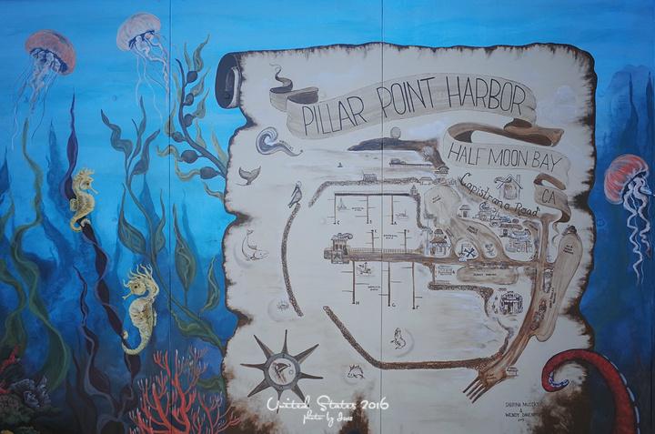 """""""再往前走就是半月湾Half Moon Bay,也是一个游艇、冲浪海上运动很热闹的地方_半月湾""""的评论图片"""