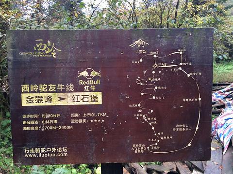 金猴峰旅游景点攻略图