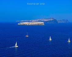 拥抱太阳的希腊,寻找插画中的圣岛