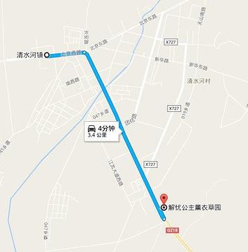 霍城县解忧公主薫衣草园旅游景点攻略图