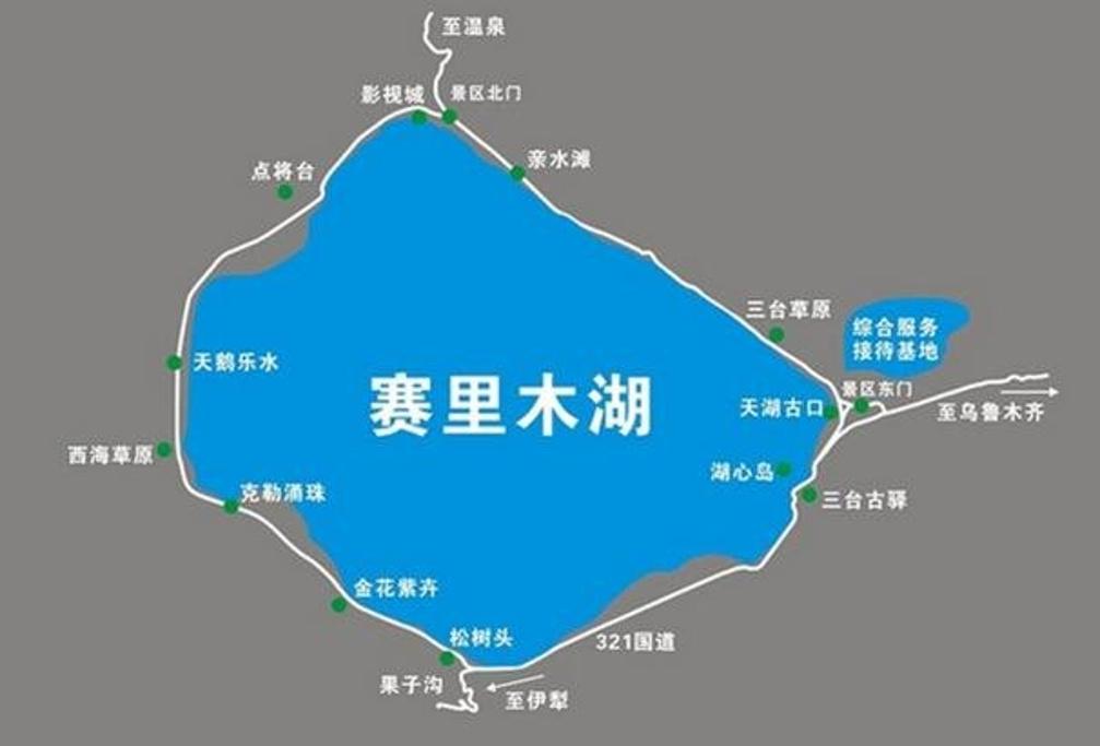 赛里木湖旅游导图