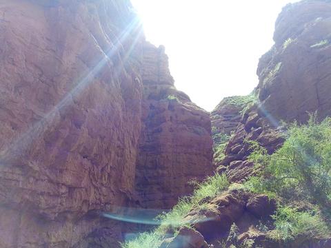 平山湖大峡谷旅游景点攻略图
