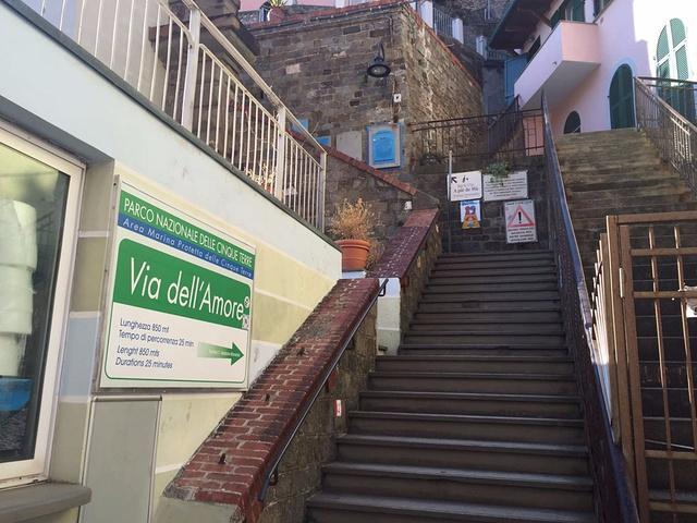 """""""里奥马焦雷是靠拉兹佩齐亚最近的村子。里奥马焦雷火车站出来左手边就有爱之路的标志,不过目前仍在关闭中_里奥马焦雷""""的评论图片"""