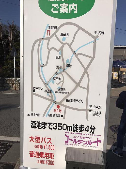 忍野八海旅游导图