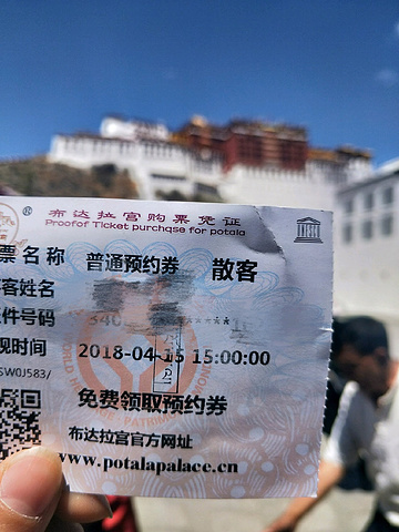 """""""进宫人数很多,每天又限制2500张门票,旅行社那里就1700张左右,如果散客的话,听说有人早上..._布达拉宫""""的评论图片"""