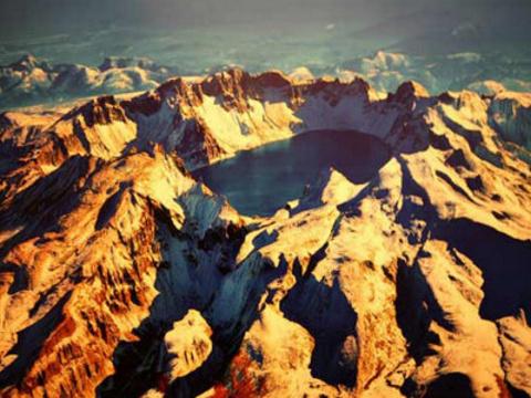 长白山火山遗址风景区旅游景点图片