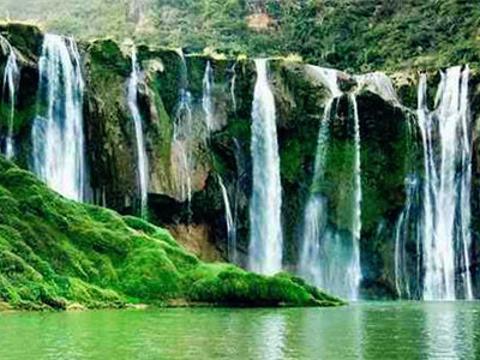 以堵勒瀑布旅游景点图片