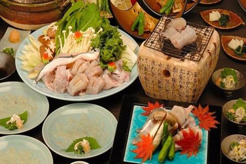 卯柳河豚料理