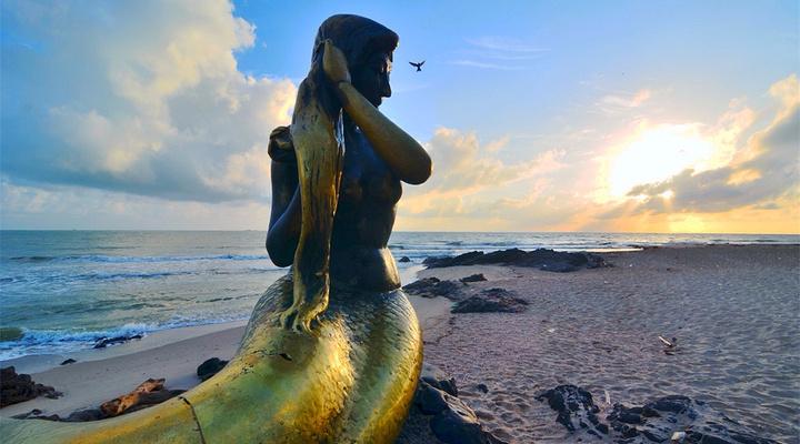 美人鱼海滩旅游图片