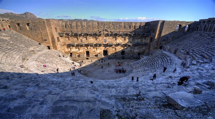 阿斯潘多斯古剧场旅游图片