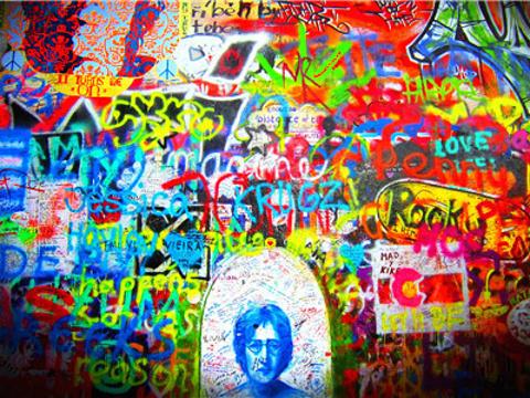 列侬墙旅游景点图片