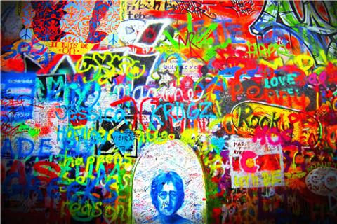 列侬墙的图片