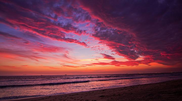 日落沙滩旅游图片