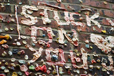 口香糖墙的图片