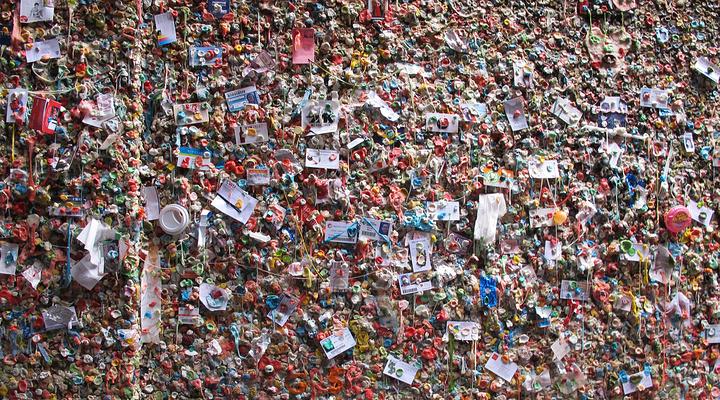 口香糖墙旅游图片