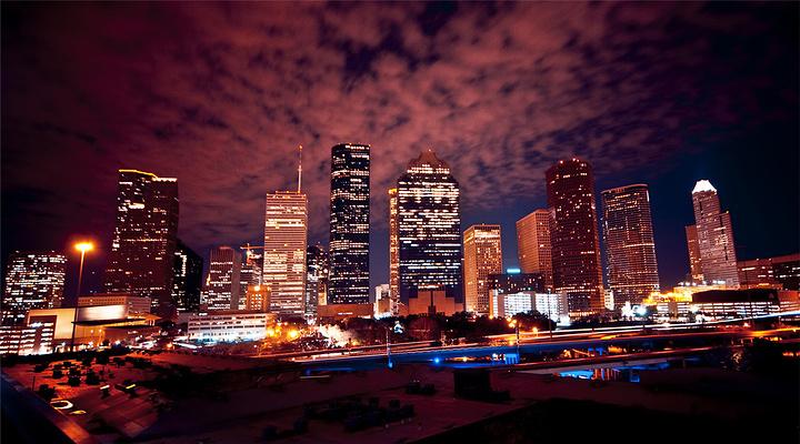 休斯顿夜景旅游图片