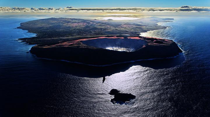 拉诺卡乌火山湖旅游图片