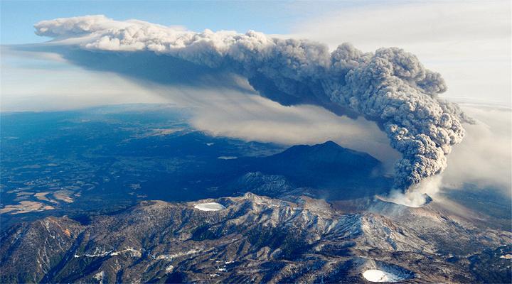 樱岛火山旅游图片