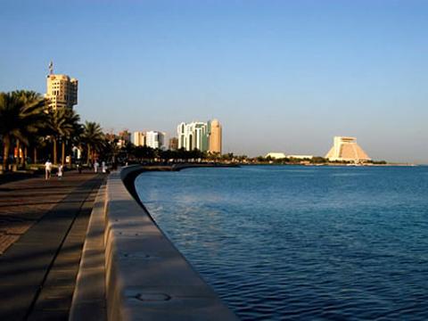 多哈滨海大道旅游景点图片