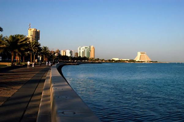 多哈滨海大道旅游图片