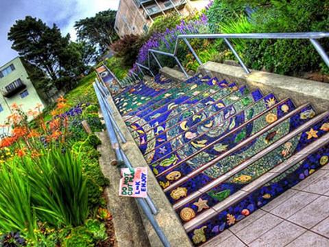 第十六街瓷砖阶梯旅游景点图片