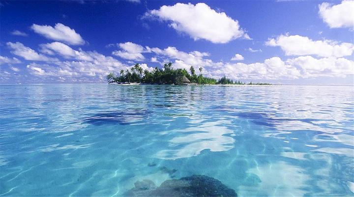 蓝色泻湖旅游图片