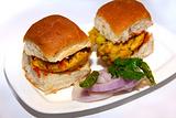 印式蔬菜汉堡(Vada Pav)