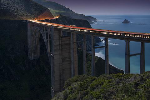 比克斯比大桥的图片