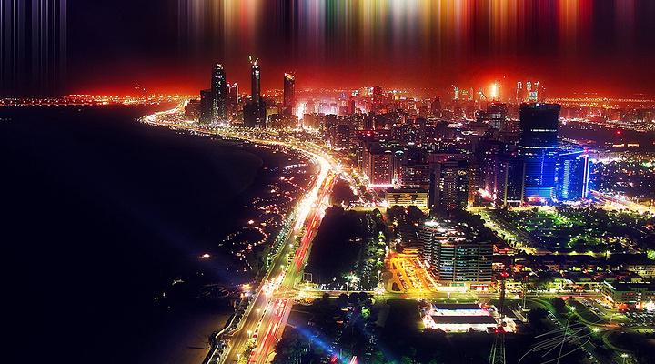 阿布扎比滨海大道旅游图片