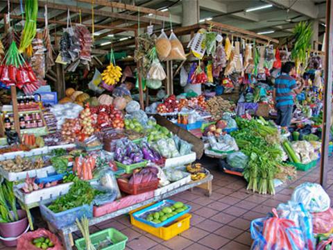 亚庇中央菜市场夜市旅游景点图片