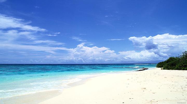 白沙湾海滩旅游图片