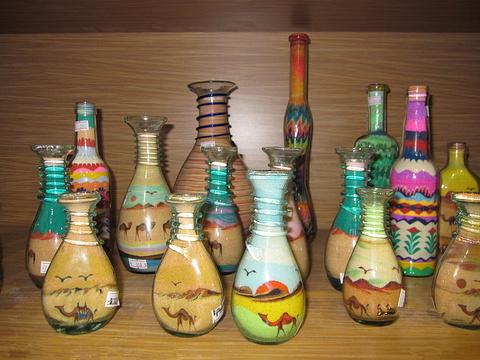 骆驼沙画瓶