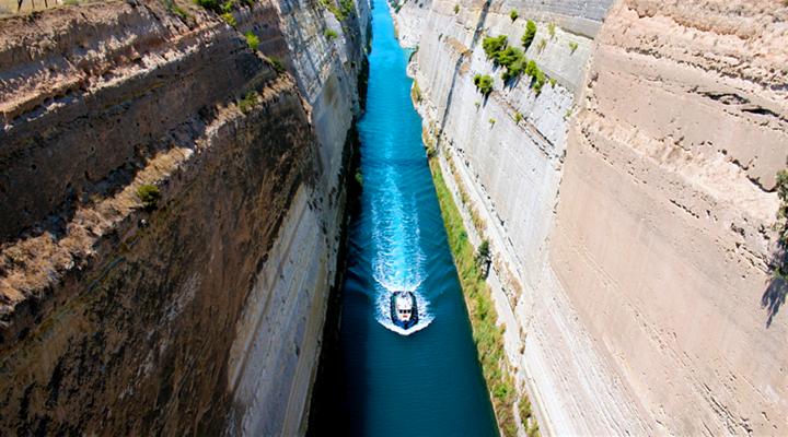 科林斯运河旅游图片