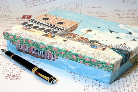 传统文具与手绘明信片
