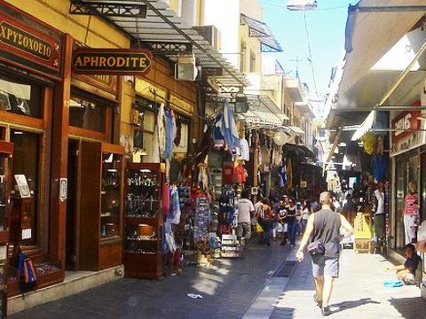 Monastiraki广场纪念品店旅游景点图片