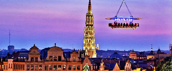 Image result for 布鲁塞尔空中餐厅。