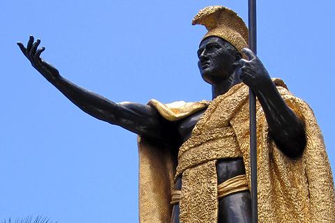 卡美哈美哈国王铜像