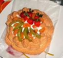 奶油水果蛋白饼