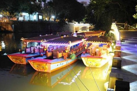 白马河游船