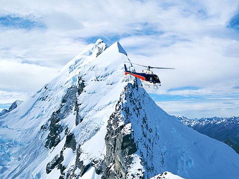 南部冰川直升机飞行体验旅游景点图片