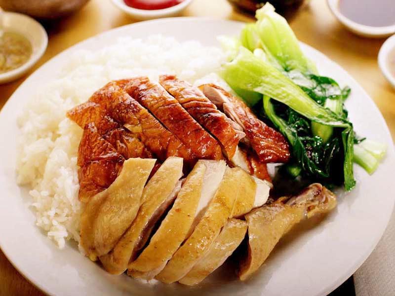 烧鹅白切鸡饭