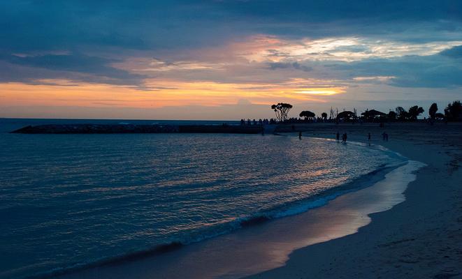 日落海滩旅游图片