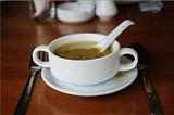 缅式奶茶和油条