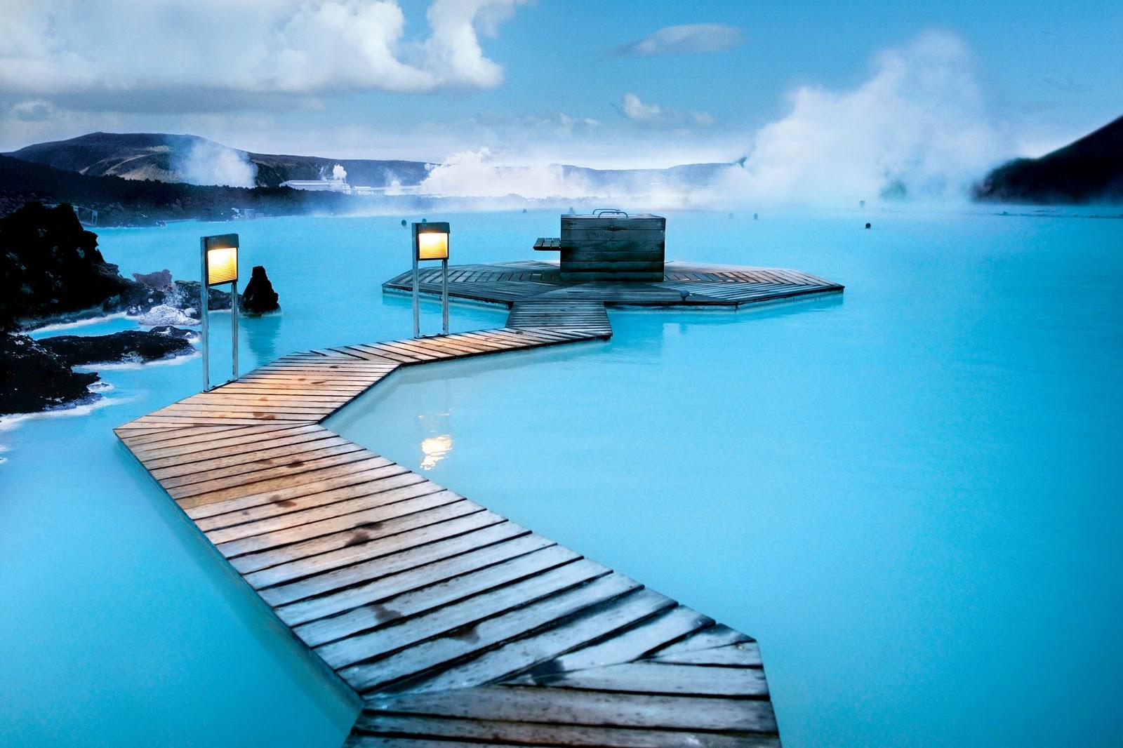 冰岛蓝泻湖