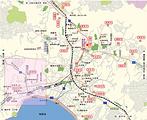 镰仓观光地图