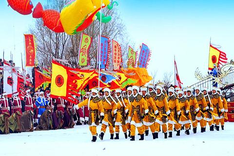 康平卧龙湖冬捕节
