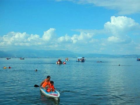 抚仙湖皮划艇旅游景点图片