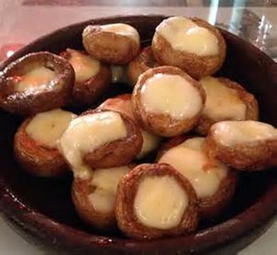 奶酪烤蘑菇