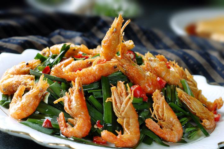 宁波柏悦酒店悦轩餐厅的河虾