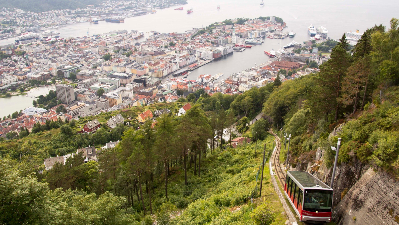 Fløyen山缆车